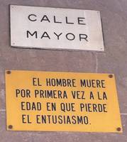 Albacete. Placas en la Calle Mayor